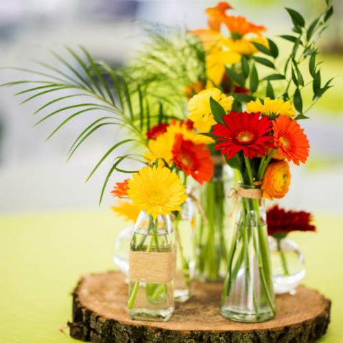 floral birthday centerpiece