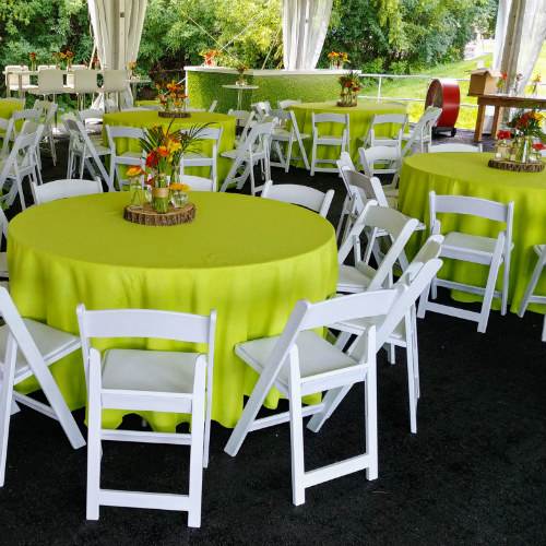 80th birthday party tables