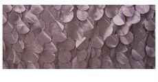 Small silver petal fabric