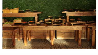 Wood buffet tables