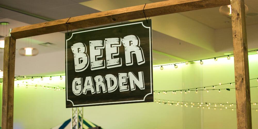Beer garden sign decor