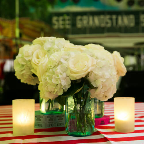 State fair floral centerpiece