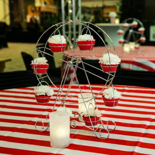 Cupcake ferris wheel decoration