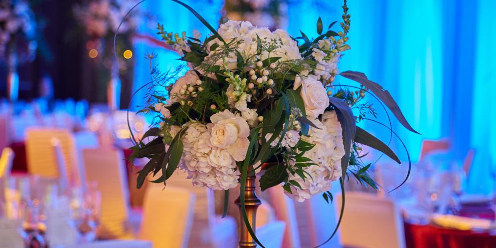 Italian dinner floral centerpiece