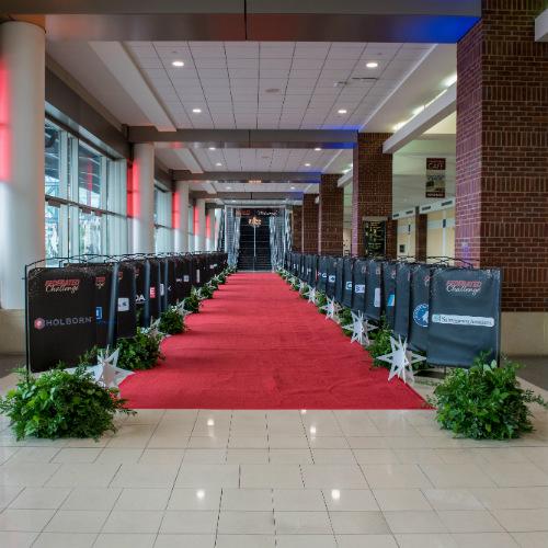 Red carpet party entrance