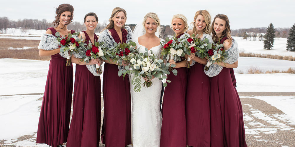 Allie Chris Palmer Wedding bridal party