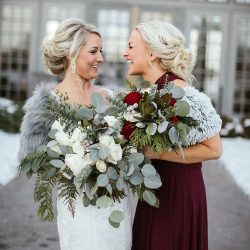 Allie Chris Palmer Wedding bride bridesmaid bouquets