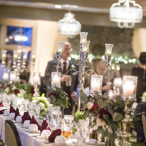 Allie Chris Palmer Wedding tall table decor