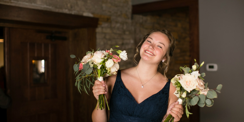Barn Wedding bridesmaid