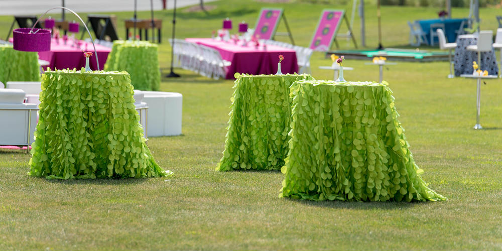 Green Petal Tables