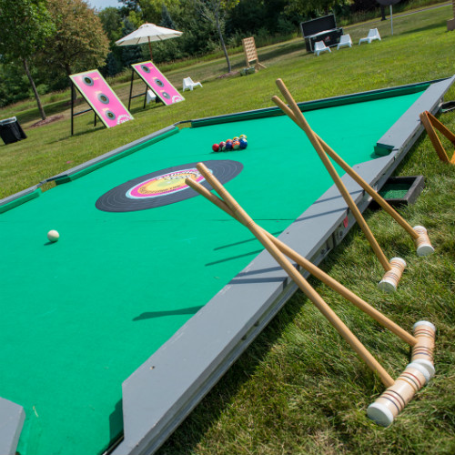 Outside Giant Pool Tables