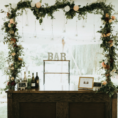 Alex and Anna Barrick Bar Flowers