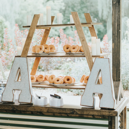 Alex and Anna Barrick Donut Display