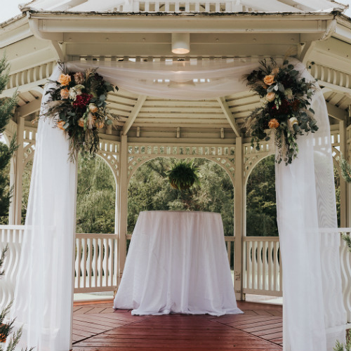 Alex and Anna Barrick Gazebo draping
