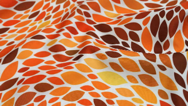 Orange Locus Leaf Table Linens