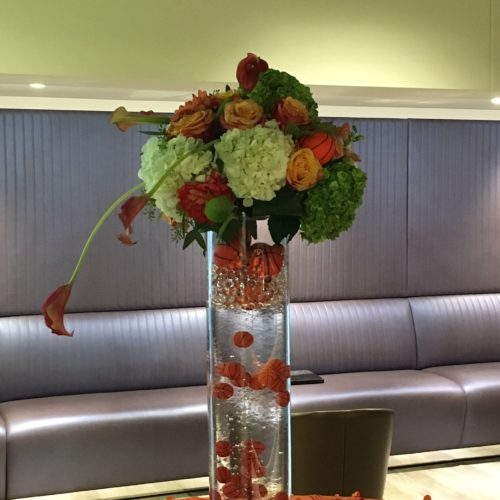 US Bank Basketball Centerpiece Floral
