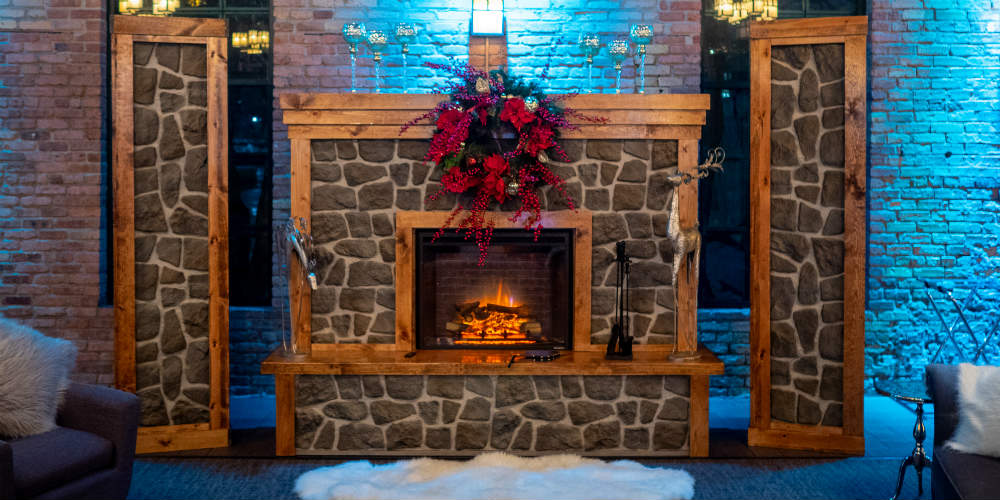 Mosaic Holiday 2018 Fireplace