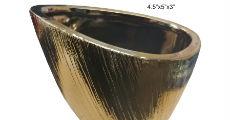 Gold Etched Napa Vase
