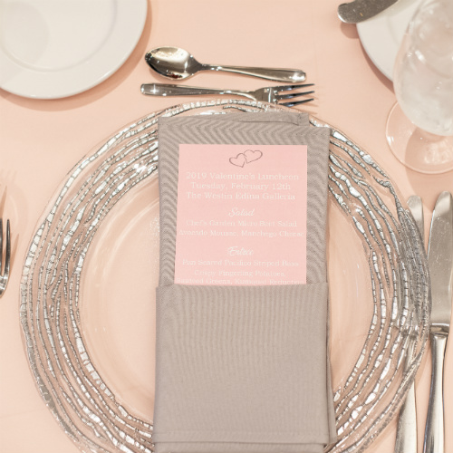 Marriott Valentine Placesetting