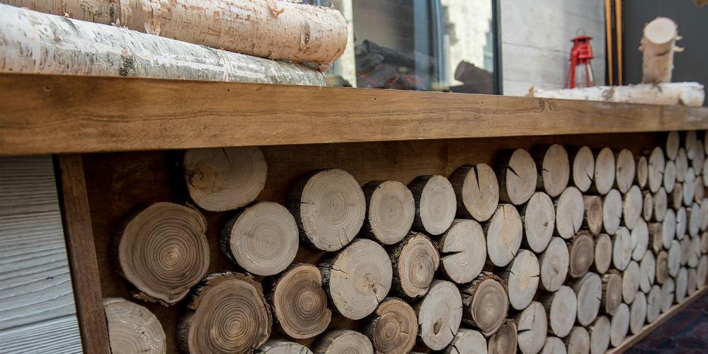Capital One 2019 Log Wall