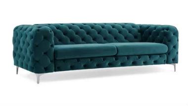 Tufted Sofa Teal