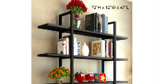 5-Tier Black Shelf